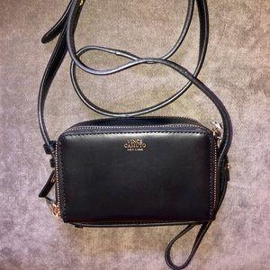 Vince Camuto Black Leather Crossbody Bag